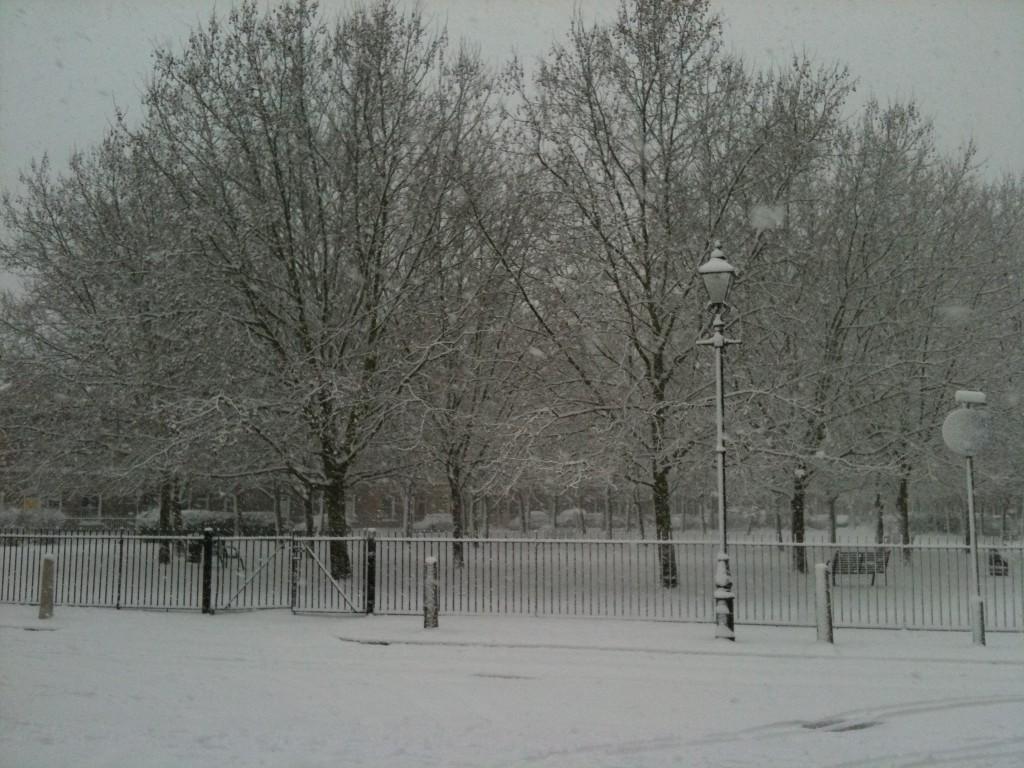 Jesus Green in snow