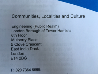 Tower Hamlets Engineering contact details