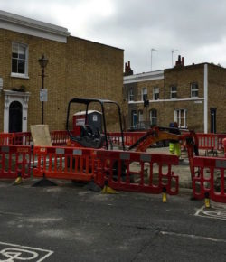 Road improvements start on Columbia Road