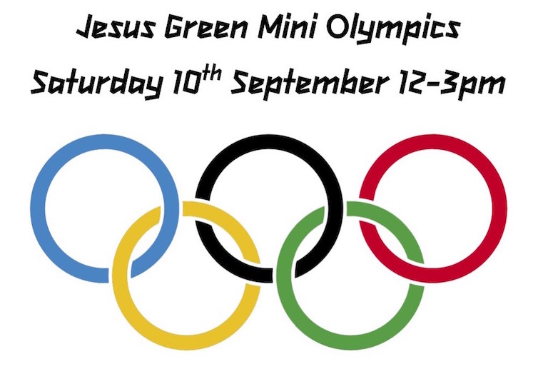 Jesus Green mini olympics poster 2016