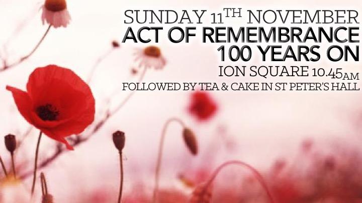 Remembrance Sunday 11 Nov